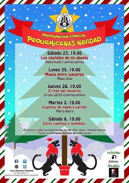 Programación especial infantil en Navidad de la Sala Micenas Adarsa en Salamanca