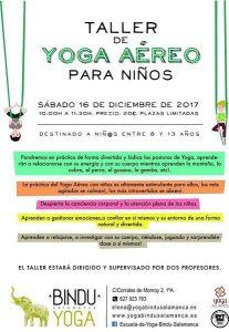 Taller de yoga aéreo para niños en Yoga Bindu Salamanca