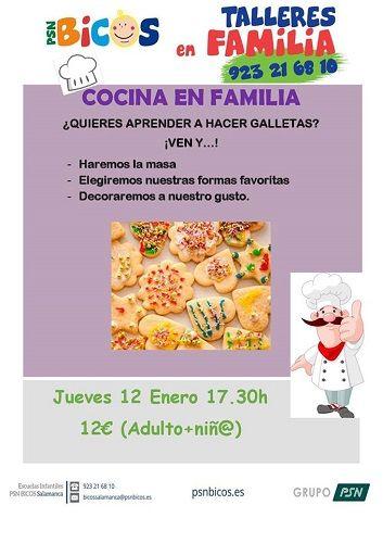 Taller de cocina en familia en PSN Bicos