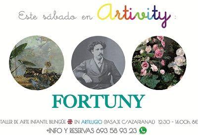 Fortuny en el Artivity, taller infantil de arte en inglés