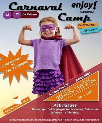 Campamento de Carnaval en Enjoy Wellness Aldehuela