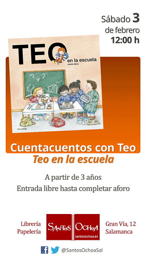 Cuentacuentos infantil con Teo en la librería Santos Ochoa de Salamanca