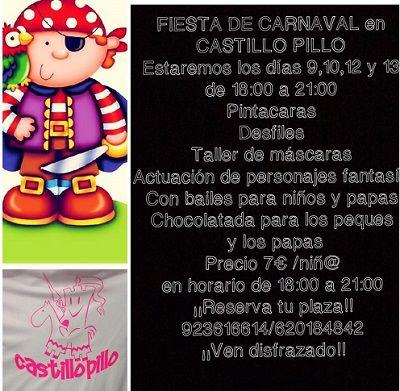 Fiesta de Carnaval en El Castillo Pillo
