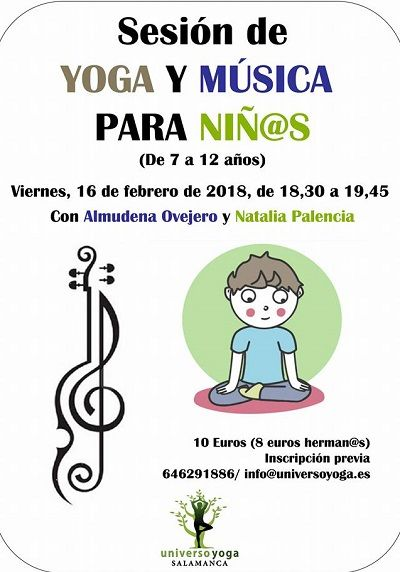 Sesión de yoga y música para niños