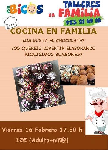 Taller de cocina en familia en Bicos Salamanca