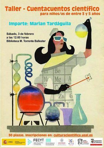 Taller-Cuentacuentos científico en la Biblioteca Torrente Ballester