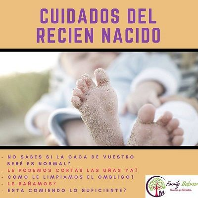 Taller cuidados del recién nacido en Family Balance