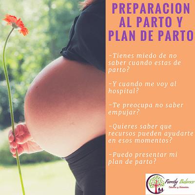 Taller de preparación al parto y plan de parto en Family Balance Salamanca