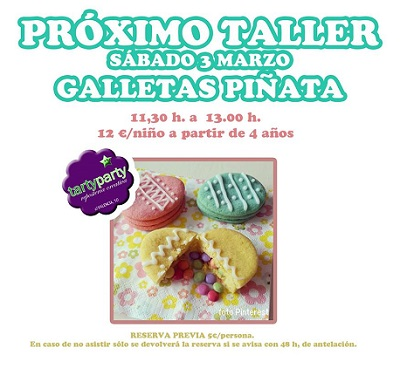 Taller infantil en Tarty Party de galletas piñata