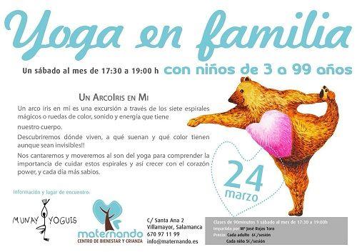 Yoga en familia en Maternando con Munay Yoguis