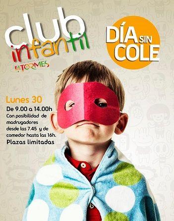 Este 30 de abril, disfruta del día sin cole en el Club Infantil del C. C. El Tormes