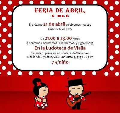 Feria de Abril Kids en la ludoteca de Vialia