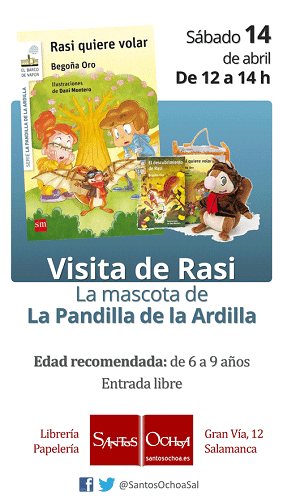 Rasi visita la librería Santos Ochoa de Salamanca