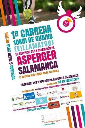 I Carrera 10K Gudino a favor de Asperger Salamanca