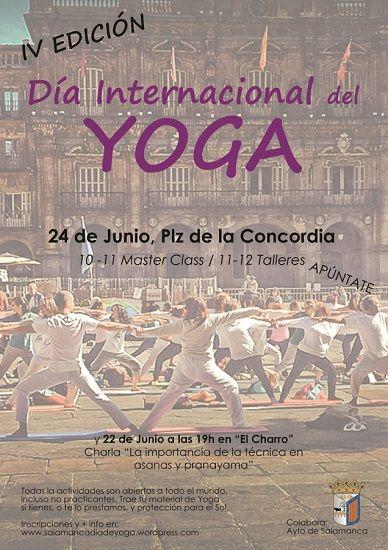 Celebra el Día del Yoga en Salamanca