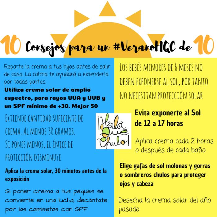 10 consejos para verano 10, sin quemaduras