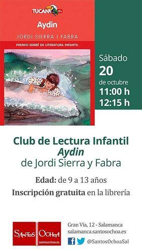 Club de lectura infantil en la librería Santos Ochoa de Salamanca