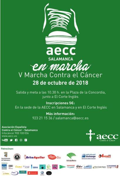 V Marcha Contra el cáncer en Salamanca 2018