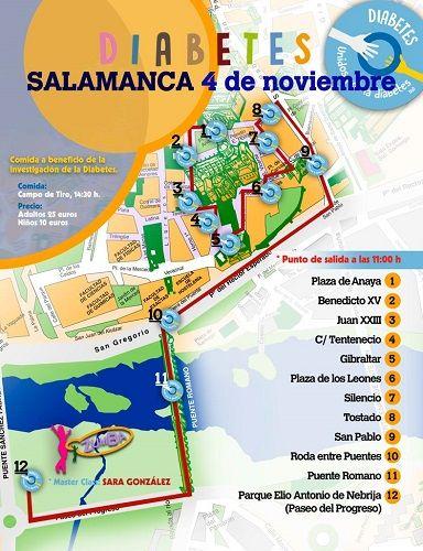 Marcha popular por la diabetes en Salamanca