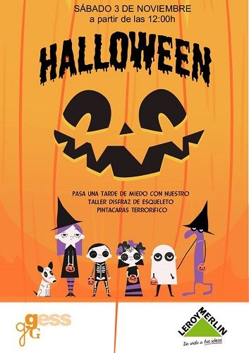 Taller de disfraces de Halloween en Leroy Merlín