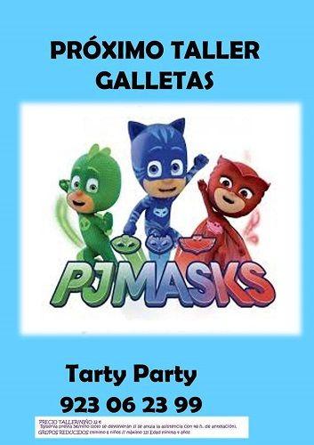 Taller de galletas de PjMasks en Tarty Party