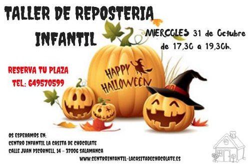 Taller de repostería infantil de Halloween en La Casita de Chocolate