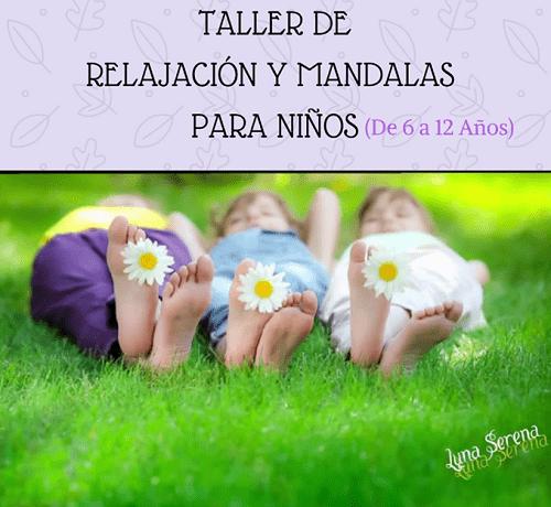 Talleres familiares de relajación y mandalas con Luna Serena en Salamanca