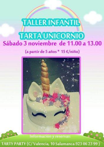 Taller infantil de tartas de unicornio en Tarty Party