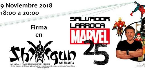 Salvador Larroca firma sus cómics de Marvel en Shogun