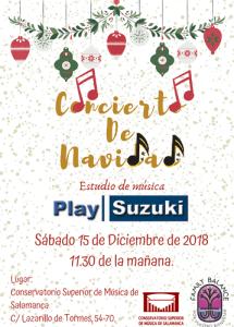 Concierto de Navidad de Play Suzuki en el Conservatorio Superior de Música