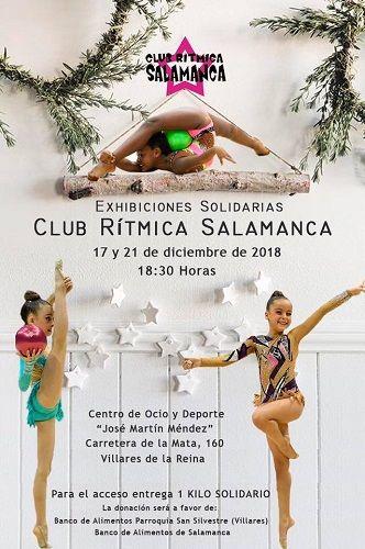 Exhibición solidaria con Club Rítmica Salamanca