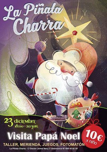 Papá Noel visita La Piñata Charra