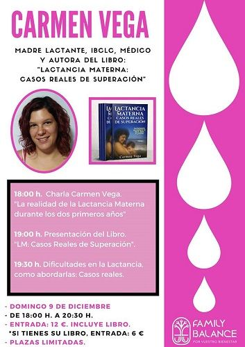 Carmen Vega presenta su libro en Family Balance