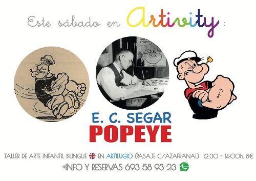 Popeye en el Artivity, taller de arte en inglés