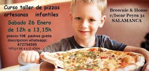 Taller infantil de masa de pizza en Brownie & Home