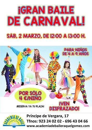 Gran baile de Carnaval en la Academia de Baile de Raquel Gómez