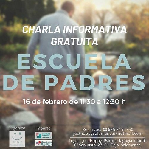 Charla informativa sobre disciplina positiva en Salamanca