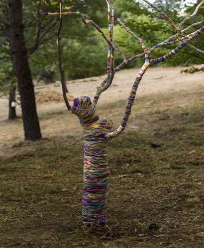 Taller infantil de land-art en el DA2