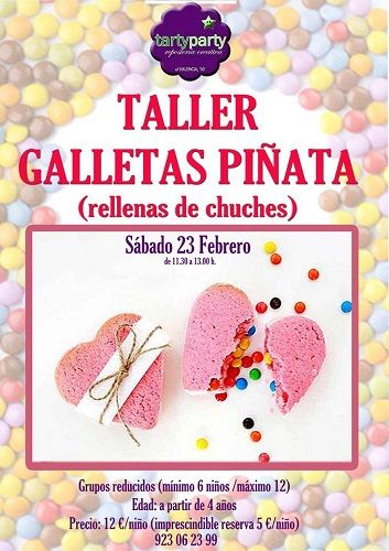 Taller infantil de galletas piñata en Tarty Party