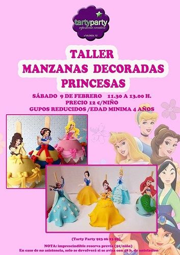 Taller de manzanas decoradas en Tarty Party