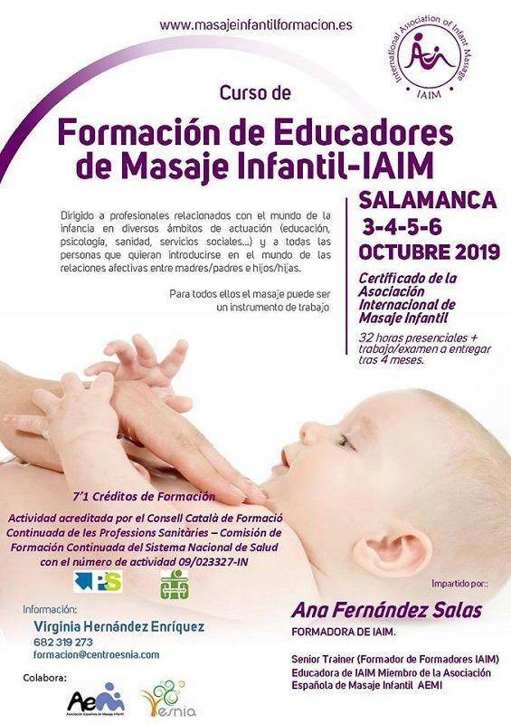 Formación de Educadores de Masaje Infantil-IAIM en Centro Esnia de Salamanca