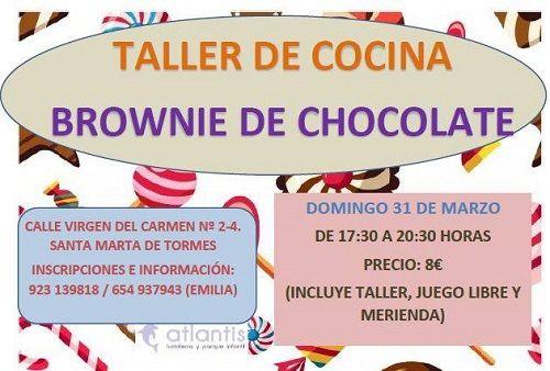 Taller de brownie de chocolate en Atlantis
