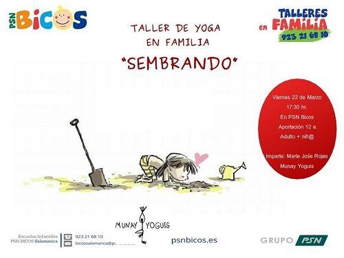 Taller de yoga en familia en Bicos
