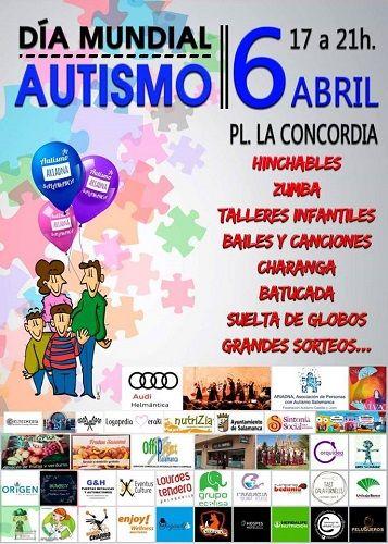 Celebra el Día Mundial del Autismo con la Asociación Ariadna en la plaza de la Concordia de Salamanca
