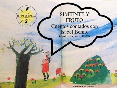 Cuentacuentos de Isabel Benito en Letras Corsarias
