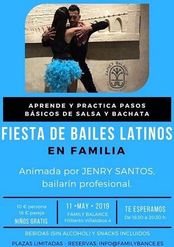 Fiesta de bailes latinos en Family Balance