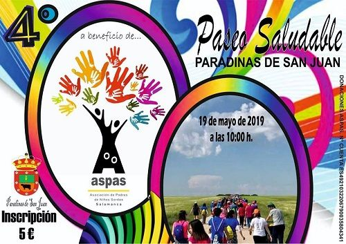 4º Paseo Saludable en Paradinas de San Juan a favor de Aspas