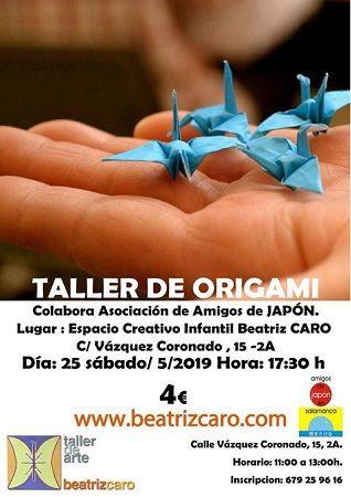 Taller de origami en el Espacio Creativo de Beatriz Caro