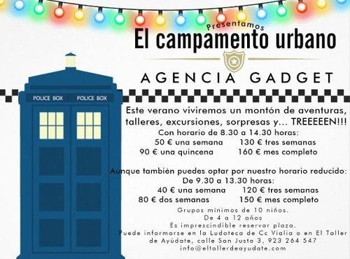 """Campamento urbano """"Agencia Gadget"""" en Vialia"""