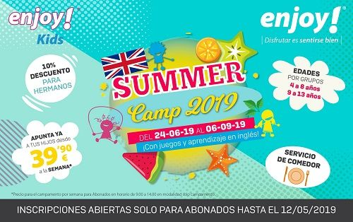 Summer Camp 2019 en Enjoy! Aldehuela